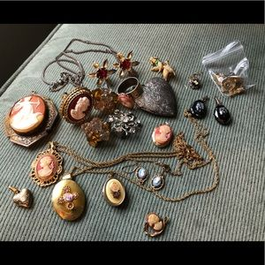 LOT of Junk Jewelry for Crafts/Repurposing Vintage